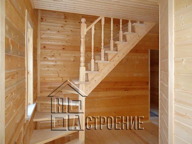 Внутренняя отделка дома из бруса в Клину